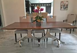 Modern Furniture Dining Room Modern Wood Dining Table Edges Stainless Steel