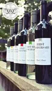 wine wedding gift marriage milestones wedding gift wine labels anniversary
