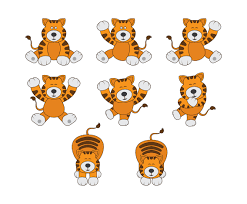 cartoon tiger vector vector art u0026 graphics freevector com