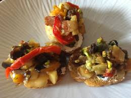 thanksgiving appetizer roasted fall vegetable bruschetta u2026 a special thanksgiving