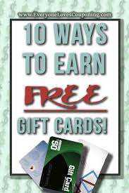 free gift cards legit ways to earn free gift cards