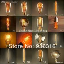 wholesale e27 40w 16 types edison retro personality large clear