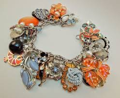 lady phoenix repurposed vintage jewelry charm bracelet one of