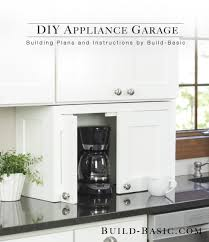 kitchen cabinet appliance garage build a diy appliance garage build basic