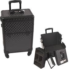 Rolling Makeup Case With Lights Professional Makeup Cases And Totes Aluminum Stylist Cases