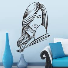 sexy girl hair spa beauty salon wall stickers vinyl barbershop see larger image