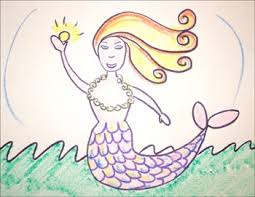 draw draw mermaid hellokids