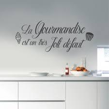 stickers cuisine citation stickers muraux citation cuisine la gourmandise est un très joli