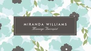 Massage Therapy Business Cards Girly Floral Business Cards Page 1 Girly Business Cards