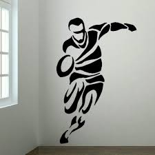 online buy wholesale transfer panel from china transfer panel large upto 6ft rugby player bedroom wall art mural transfer sticker vinyl decal home wall decor