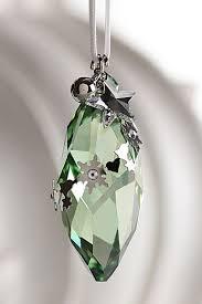 swarovski cone ornament peridot silver shade 2012