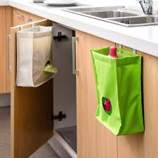Kitchen Cabinet Garbage Drawer Kitchen Storage Bag Drawer Cabinet Door Back Garbage Bag Holder