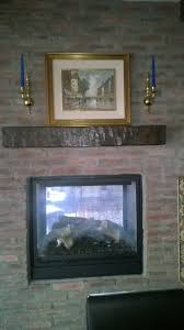 home stained rustic fireplace design faux wood workshop