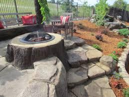 Backyard Fire Pit Ideas Landscaping by Landscape Sloping Garden Design Ideas Online The Garden