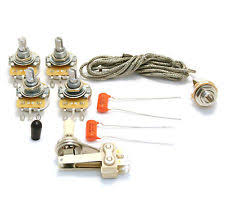 es 335 pots switch wiring kit for gibson guitar complete with