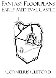 early medieval castle fantasy floorplans dreamworlds