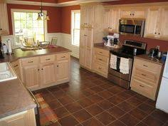 Natural Cherry Cabinets With Granite Countertops  An Oversized - Natural maple kitchen cabinets
