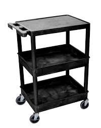 end table black 24 ore international luxor 3 tier cart flat top 2 tubs round legs international tool
