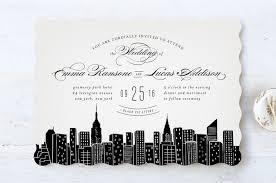 wedding invitations nyc big city new york city wedding invitations by hooray creative