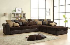Small Scale Sectional Sofas Best Sofa Tags Small Wrap Around Couch Shape Tan Leather