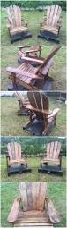 Recycled Adirondack Chairs Recycled Pallet Adirondack Chairs Wood Pallet Furniture
