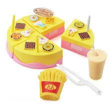 jeux de simulation de cuisine 11 pcs enfants cuisine jouets d anniversaire gâteau coupé jouets