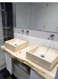 mensola lavabo da appoggio mensola piano lavabo in legno taglio tronco naturale 100x50x7
