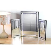 tri fold mirror with lights led silver tri fold mirror 78cm x 54cm