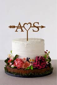 wedding shower cakes arrow cake topper with initials wedding arrow cake topper