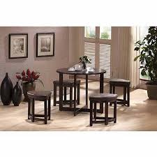 Coffee Table With Nesting Stools - wholesale interiors rochester modern 5 piece bar table set with