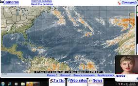 caribbean weather map talkingdesktop voice commands display hurricane satellite and