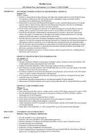 hospital resume exles hospital coordinator resume sles velvet
