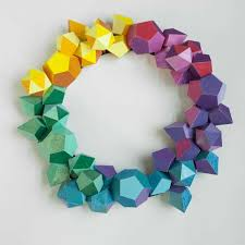 modern christmas vibrant polygonal wreaths modern christmas decor