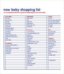 Excel List Templates Shopping List Template Sle Grocery List 9 Documents In Pdf