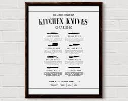 kitchen knife chart butcher print kitchen diagram cooking