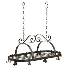 amazon com gift warehouse 35603 hanging pot rack kitchen