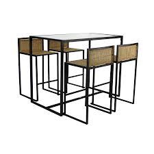 Outdoor Furniture Pensacola by Shop Apollo Outdoor Designs Pensacola 5 Piece Matte Brown Glass