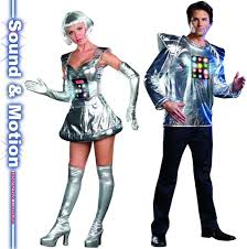 Halloween Light Up Costumes Futuristic Robot Bing Light Up U0026 Futuristic Robot Male Light