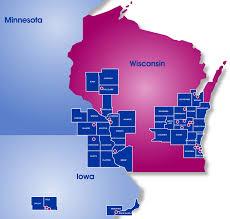 Kenosha Wisconsin Map by Locations Marine Credit Union