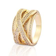wedding ring designs gold fashion designs gold plated cz wedding rings for women