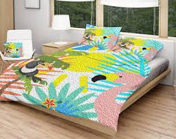 Girls Hawaiian Bedding by Tropical Bedding Etsy Uk