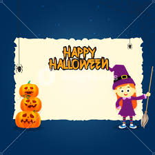 halloween greeting card with pumpkin royalty free stock image
