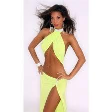 exotic rhinestone halter stripper gown evening dancer