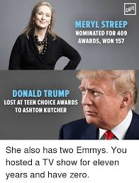 Lost Memes Tv - cafe meryl streep nominated for 409 awards won 157 donald trump
