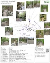 Wisconsin State Parks Map by Matthiessen State Park Dells Area Trails