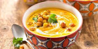 cuisine potiron velouté de pois chiches et potiron à la marocaine recettes