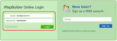 map login sign up and login imapbuilder map editor