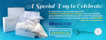wedding dress cleaning and boxing wedding gown preservation master cleaners