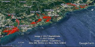 Puerto Rico Google Maps by The Flood Observatory