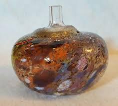 Colored Bud Vases Kosta Boda Atelier Artist Signed B Vallien Multi Color Bud Vase